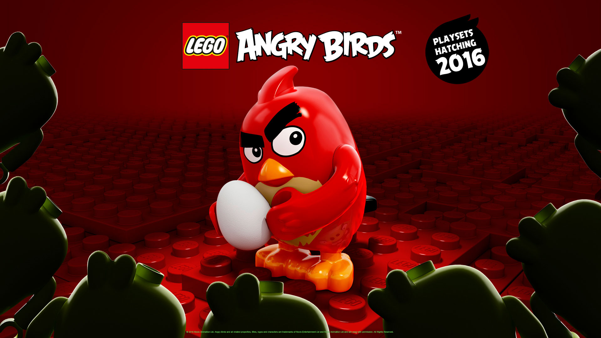 Lego Angry Birds Red Wallpaper