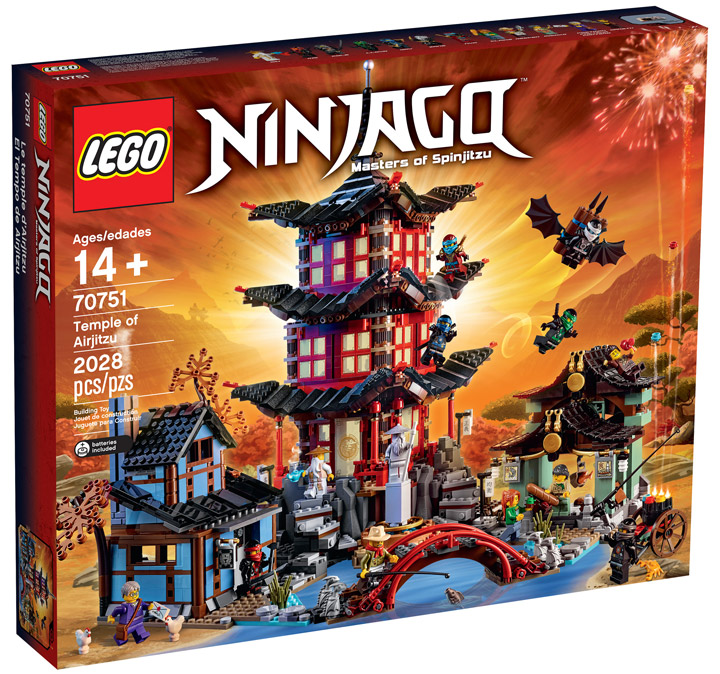Lego Ninjago Temple Of Airjitzu 70751 Box