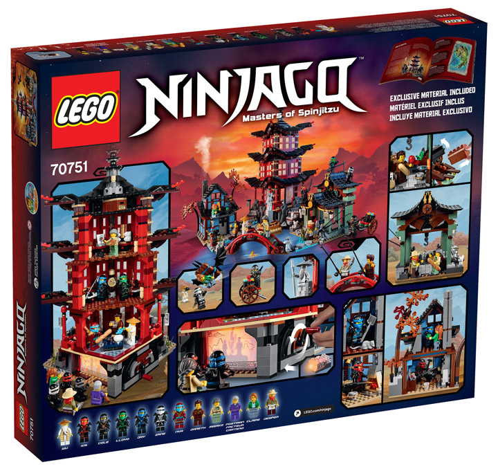 Lego Ninjago Temple Of Airjitzu 70751 Box Back