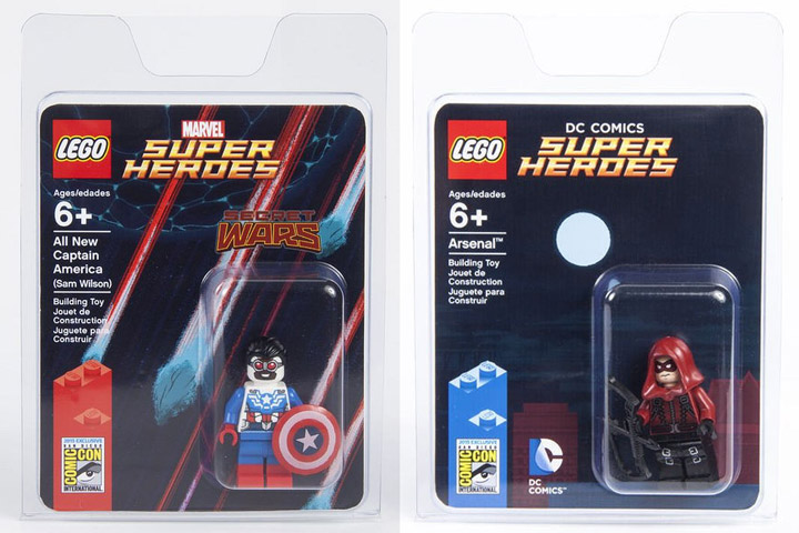 Lego San Diego Comic Con Captain America and Arsenal