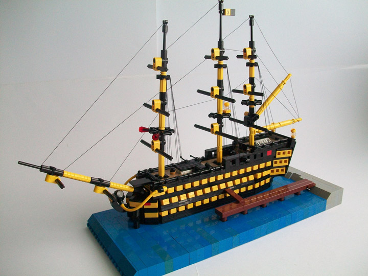 Nick Barrett's Lego Ship Little Victory