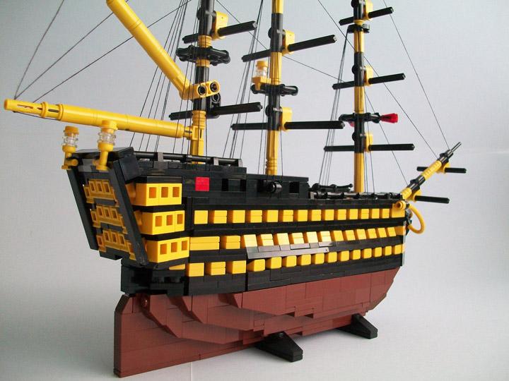 Nick Barrett's Lego Ship Little Victory Detail