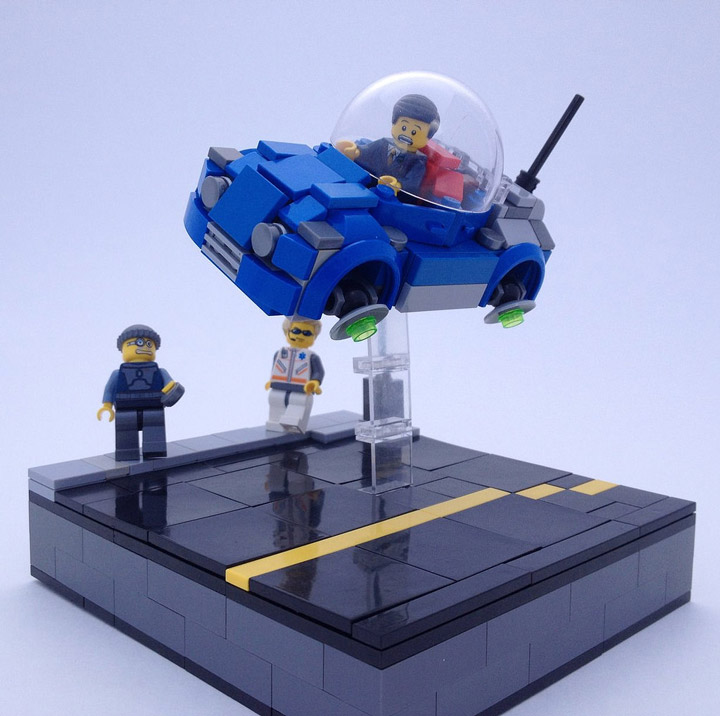 PSquiddy's Late For The Job Lego MOC