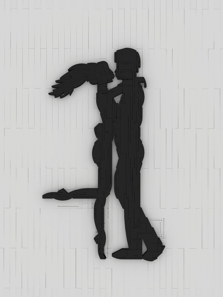 Bricks Noir's Lego Silhouette Lovers Embrace