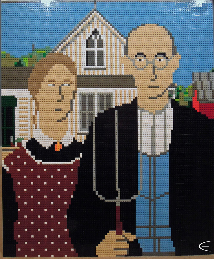 Cole Edmonson's Lego Mosaic American Gothic