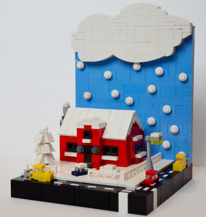 Hornet Razvan's Lego Microscale Winter Vignette 01