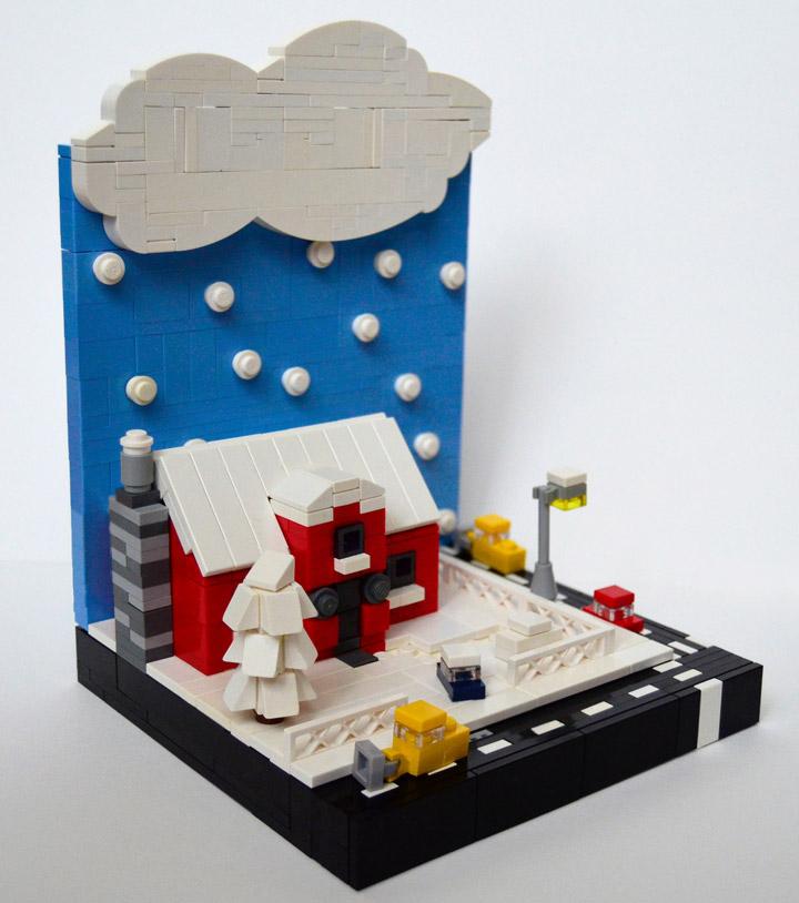 Hornet Razvan's Lego Microscale Winter Vignette 02