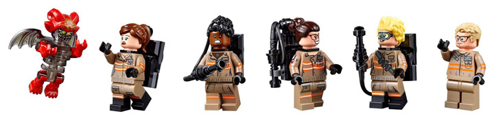 Lego Ghostbusters Ecto-1 Ecto-2 75828 Minifigures