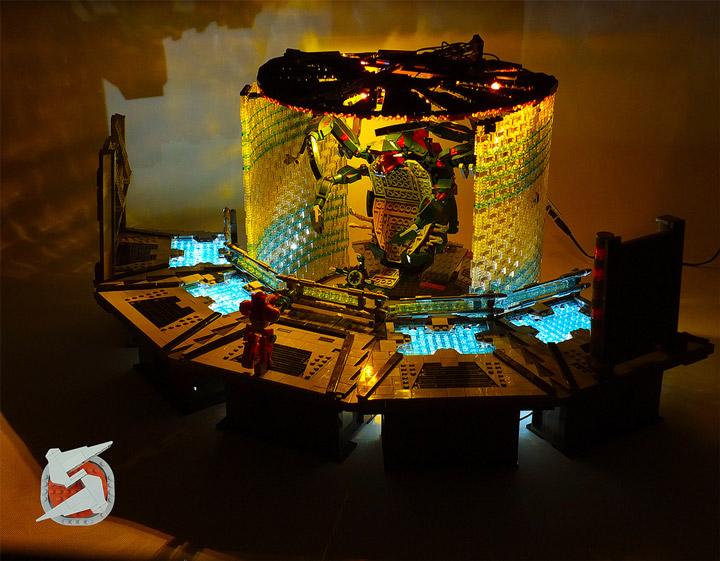 Jared Lego Metroid Parasite Queen Battle