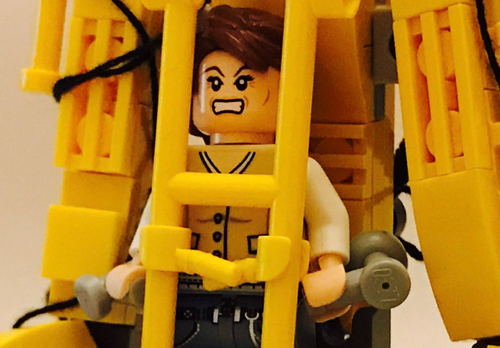 Andreas Lenander Lego Alien Ripley Power Loader Zoom