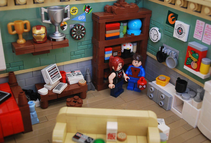 Ben Cossy Lego Spider-Man Peter Parker's Apartment Detail