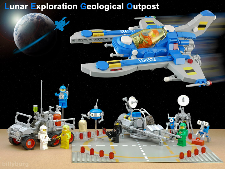 Billy Burg Lego Space Lunar Exploration Geological Outpost