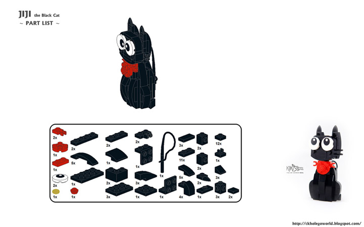 CK HO Lego Black Cat JiJi Instructions
