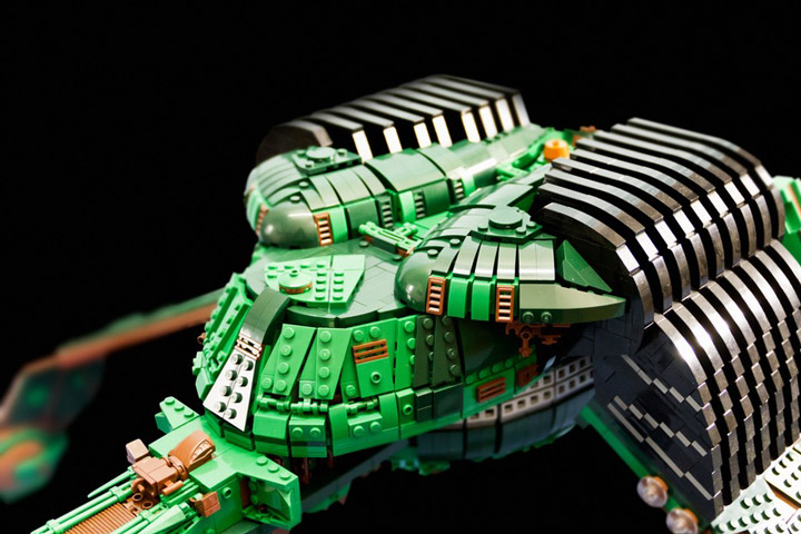 Kevin J Walter Lego Star Trek Klingon Bird Of Prey Detail