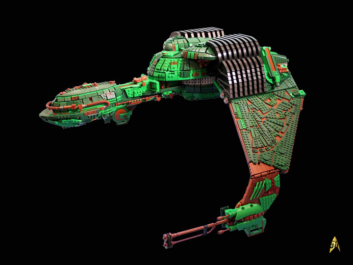Kevin J Walter Lego Star Trek Klingon Bird Of Prey Front