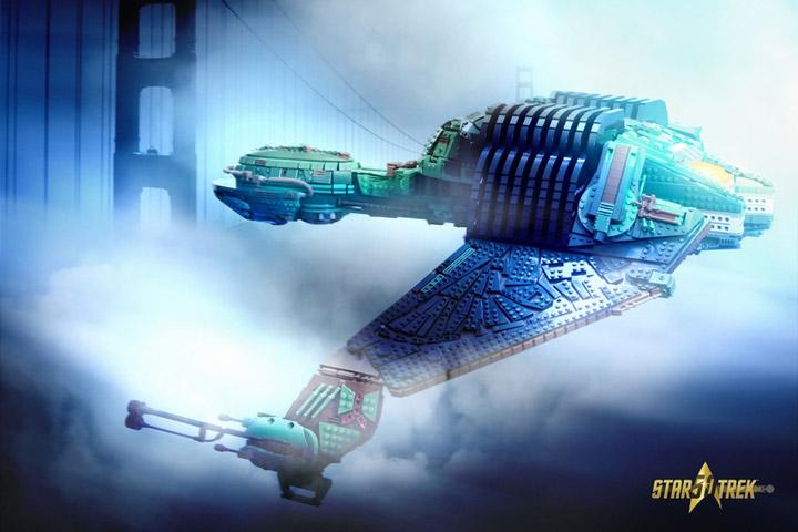 Kevin J Walter Lego Star Trek Klingon Bird Of Prey Golden Gate