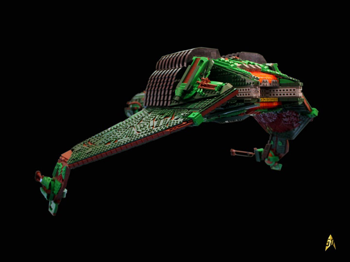 Kevin J Walter Lego Star Trek Klingon Bird Of Prey Rear