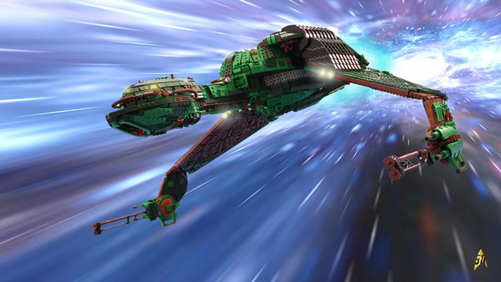 Kevin J Walter Lego Star Trek Klingon Bird Of Prey Space