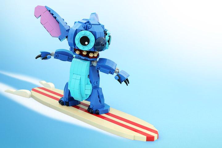 Legohaulic Lego Stitch Surfing