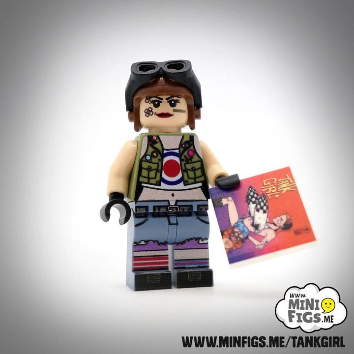 Minifigs Lego Tank Girl Custom Minifigure