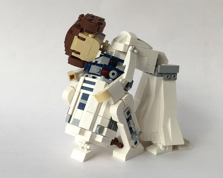 Miro Dudas Lego Star Wars Princess Leia R2D2 Hug