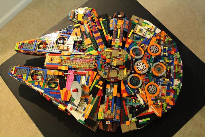 Peter De Smet Lego Star Wars UCS Millennium Falcon Recolor 03