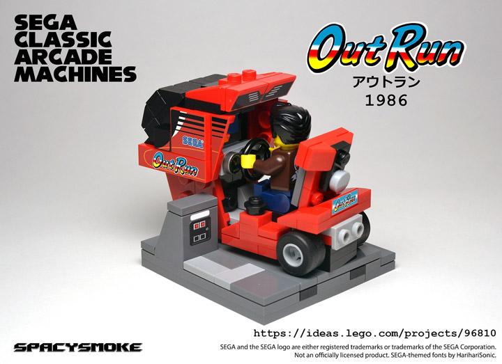 SpacySmoke Lego Sega Classic Arcade Out Run