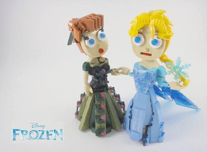 YOS Lego, Frozen Lego Anna And Elsa