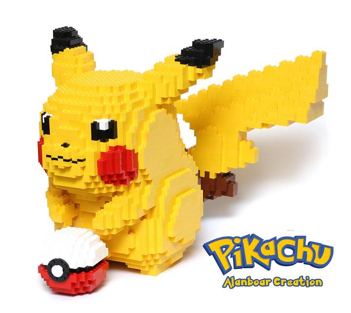 alanboar Lego Life-sized Pikachu