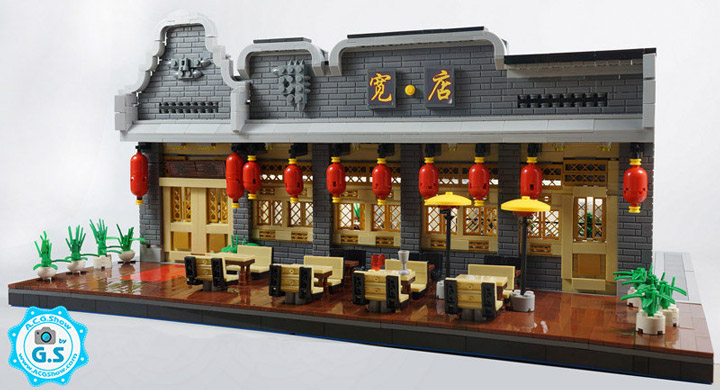 qian yj Lego Chinese Architecture Restaurant