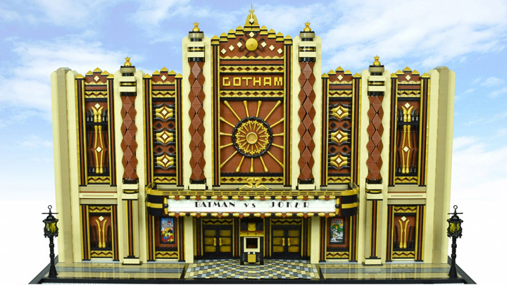 Paul Hetherington Lego Batman Gotham vs Joker Art Deco Gotham Theater