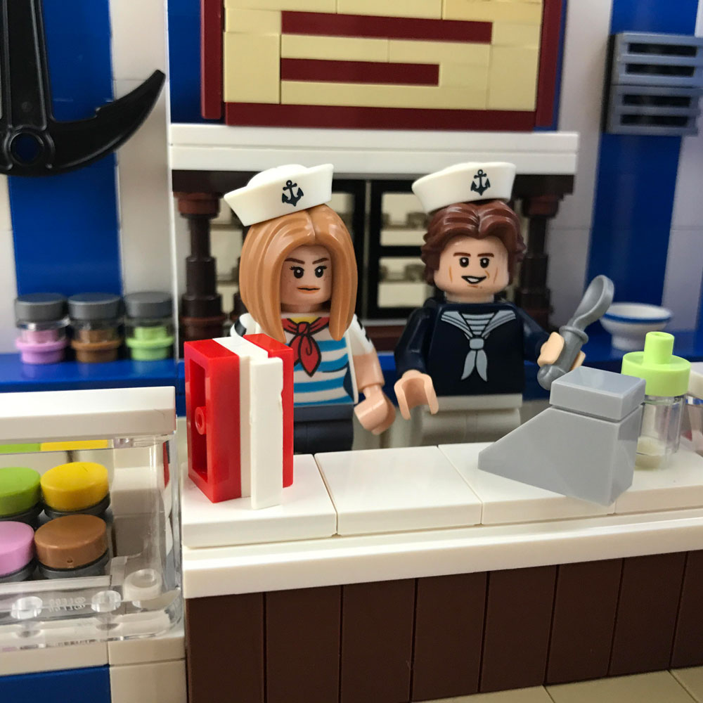 Welcome to Scoops Ahoy. A Lego Stranger Things MOC.