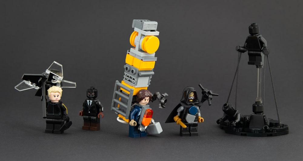 Death Stranding Lego Minifigures, Fragile, Die-Hardman, Sam Porter Bridges, Higgs, BT