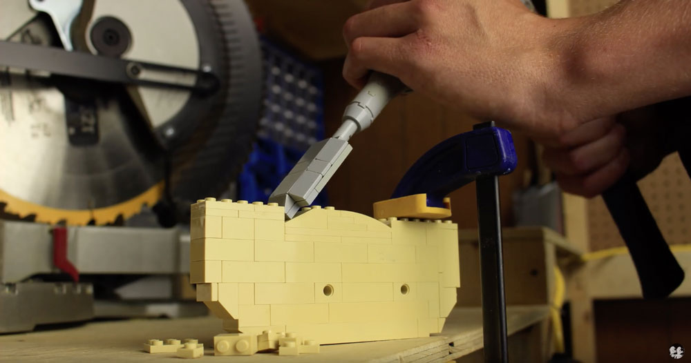 Lego Woodshop Stop Motion Video