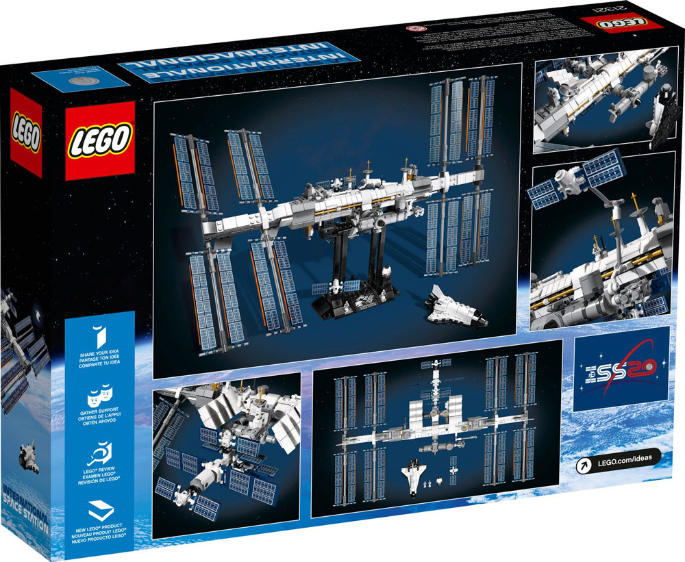 Lego Ideas International Space Station 21321 Box Back