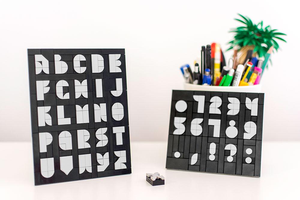 A 2x3 Lego Font