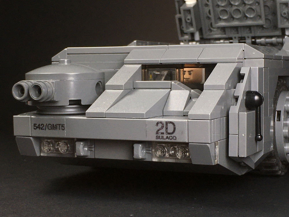 Lego M577 APC from Aliens detail