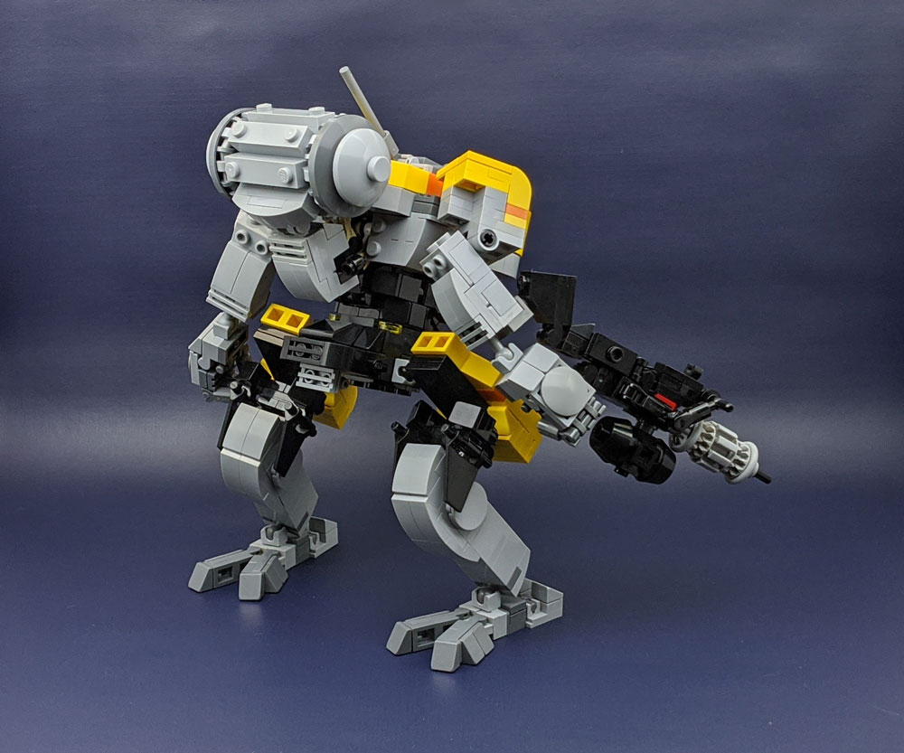 Yellow Jackrabbit Lego Mech Rear