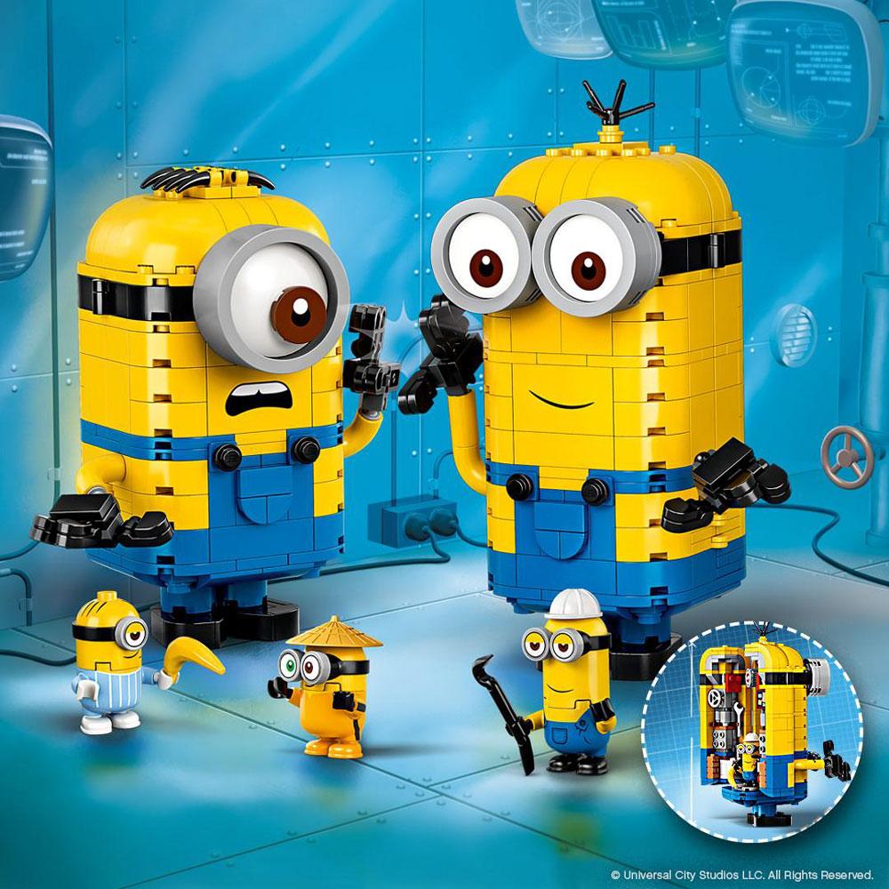 Lego Minions Theme 75551 Brick Built Minions And Their Lair
