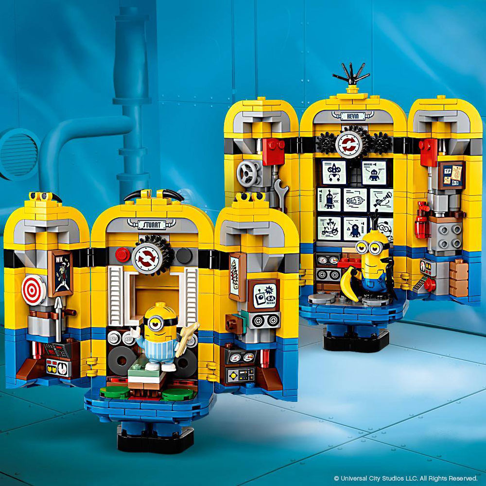 Lego Minions Brick Built Minions And Their Lair 75551 Inside Details