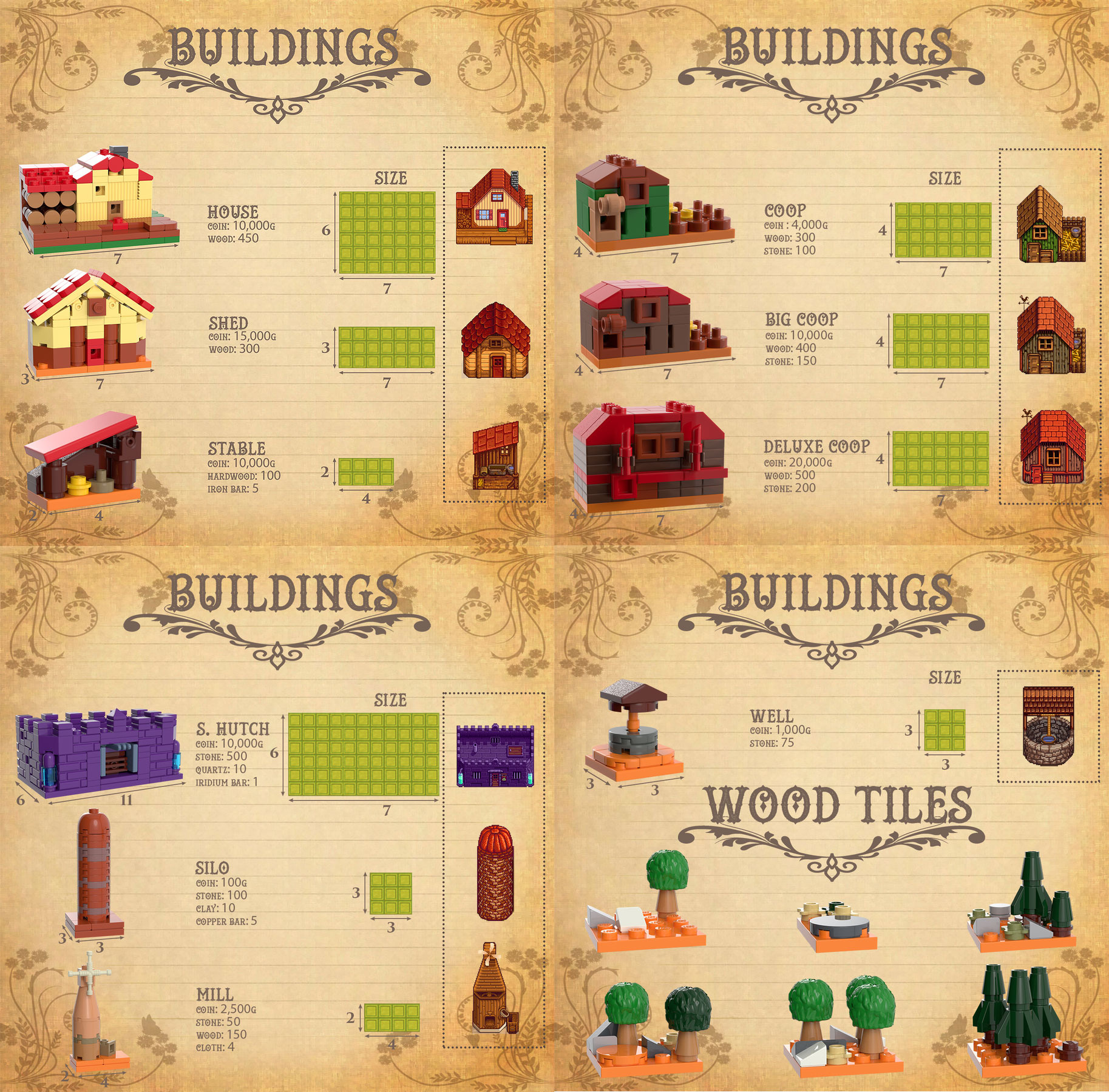 Buildings and Upgrades, Lego Stardew Valley Farm