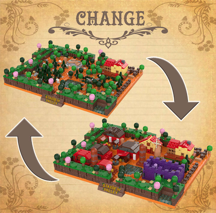Lego Farm From Stardew Valley Video Game