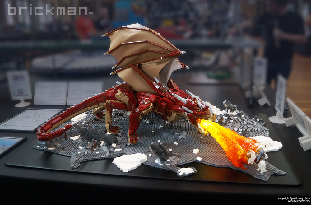 A Lego Fire Dragon