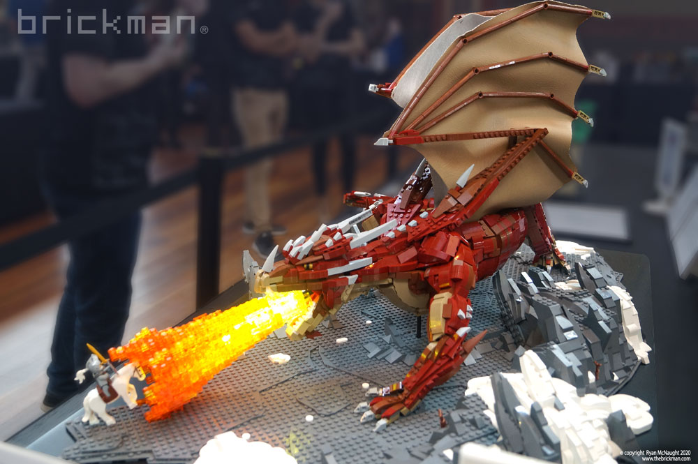 The Sad Tale Of Sir Warick The Overconfident, A Lego Fire Dragon