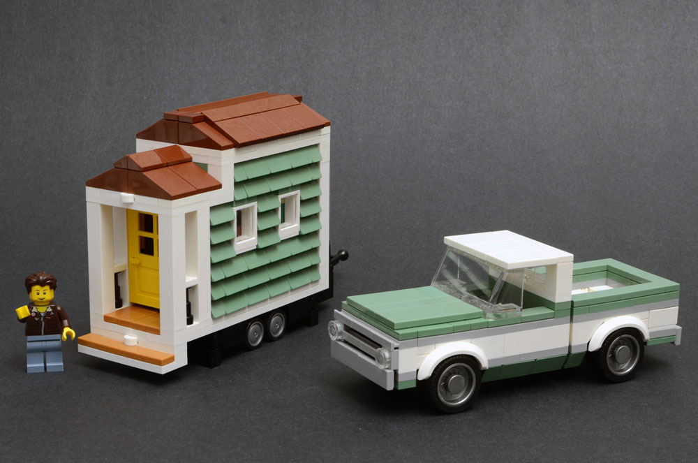 A Lego Tiny House And Classic Chevy Truck