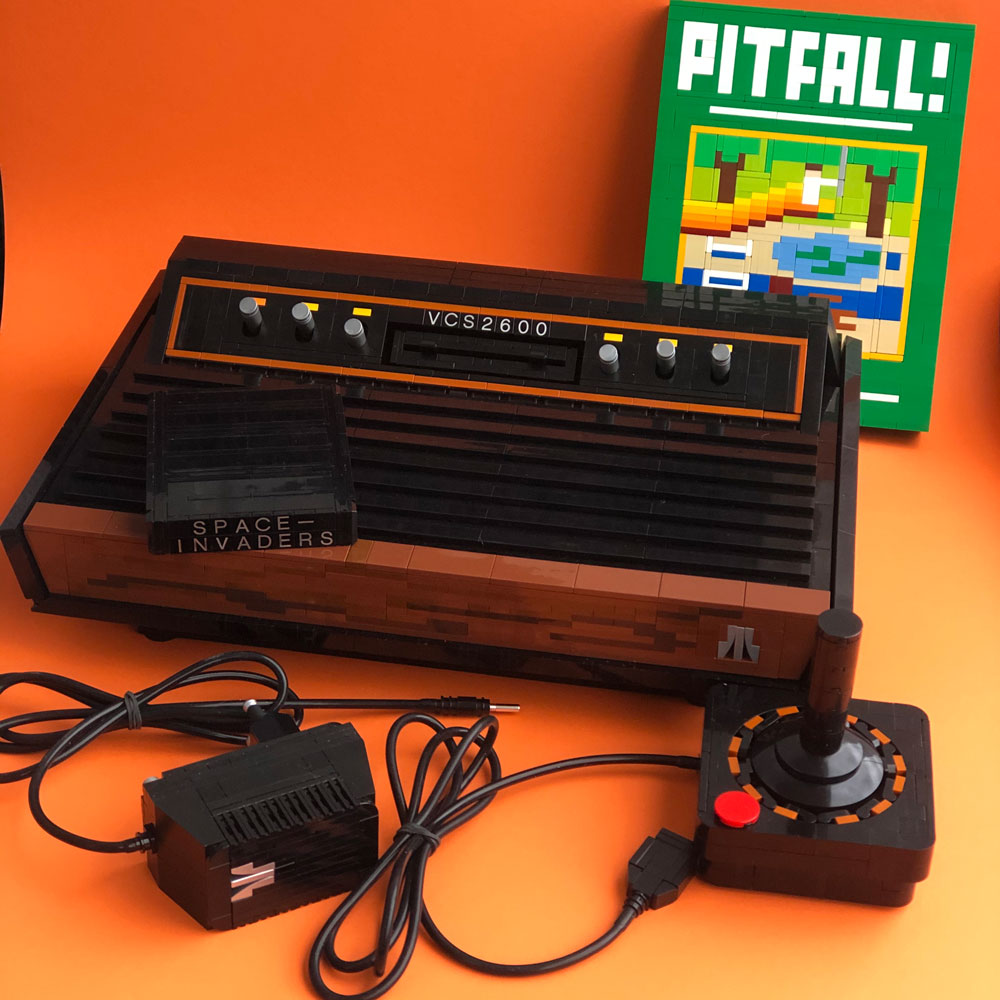 The Lego Atari 2600, With Pitfall And Space Invaders