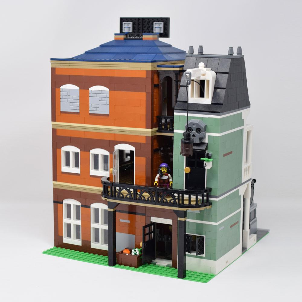 A Lego Modular New Orleans Jazz Club Back Door