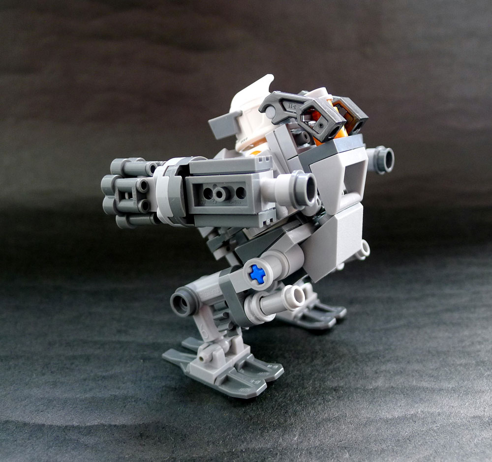 The Prototype Anti-Droid Exosuit Lego MOC Rear View