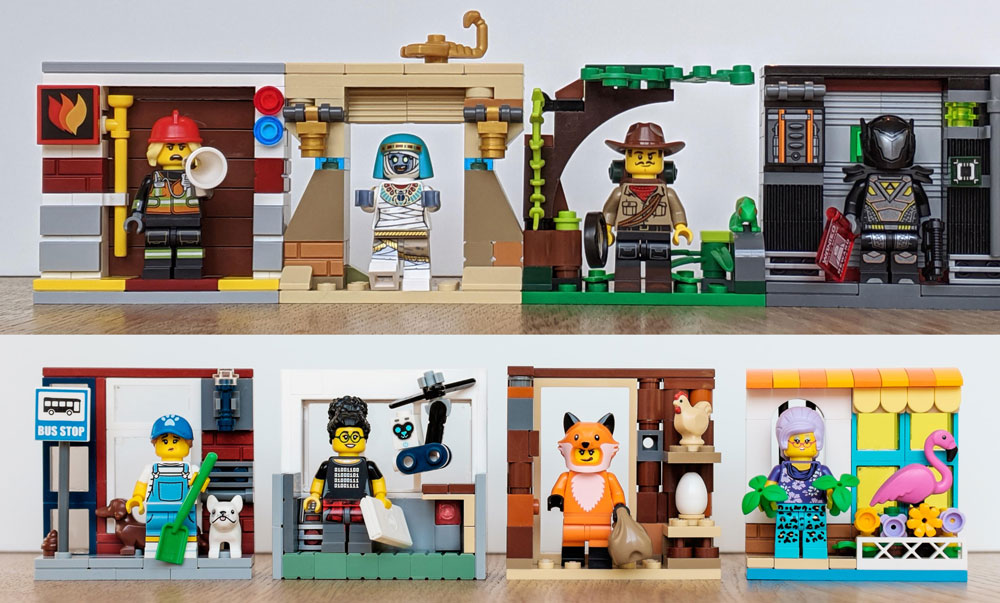 Cute Vignettes For Lego Series 19 Minifigures