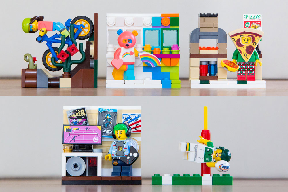 Cute Mini Vignettes For Lego Minifigures Series 19